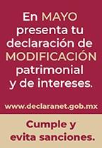 Declaración de Modificación de Situación Patrimonial y de Intereses de Mayo 2019