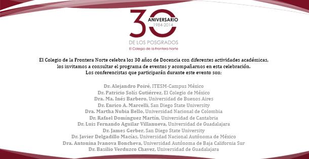 30 Aniversario de los posgrados