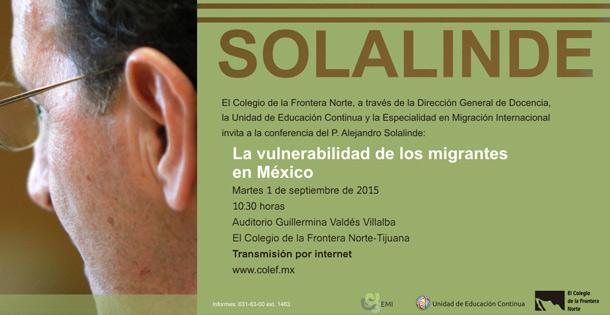 01-09-2015 La vulnerabilidad de los migrantes en México