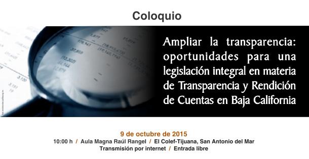 Ampliar la transparencia: oportunidades para una legislación integral en materia de Transparencia y Rendición de Cuentas en Baja California