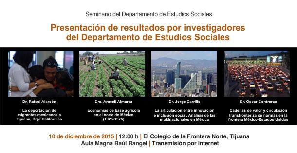 (Spanish) Seminario del Departamento de Estudios Sociales