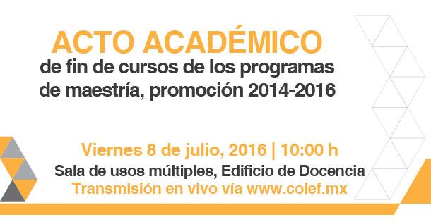Fin de cursos, programas de maestría de El Colef