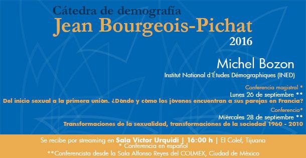 Banner Cátedra de Demografía Jean Bourgeois-Pichat de El Colegio de México