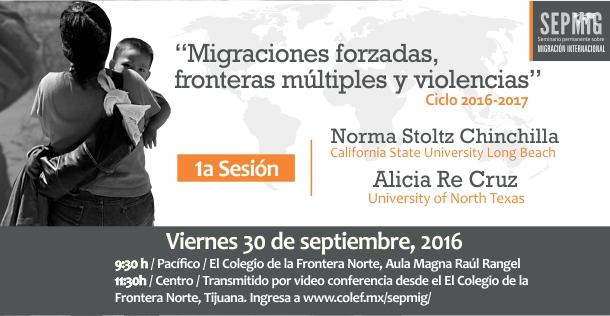 """Banner Sesión inaugural SEPMIG """"Migraciones forzadas, fronteras múltiples y violencias"""""""