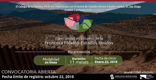 Banner Especialidad en Estudios de la Frontera