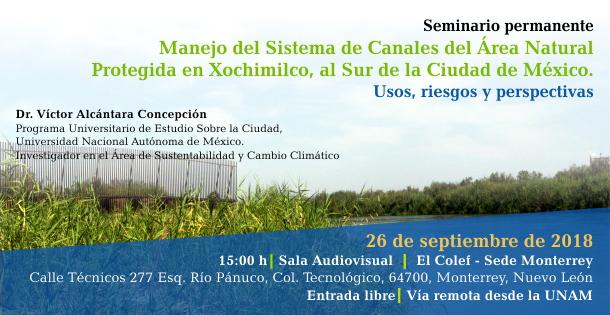 Banner Manejo del sistema de canales del área natural protegida en Xochimilco, al sur de la ciudad de México. Usos, riesgos y perspectivas.
