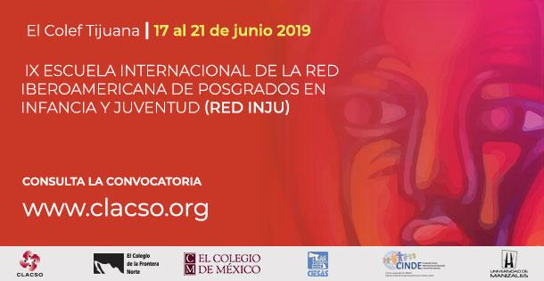 Banner IX Escuela Internacional de la Red Iberoamericana de Posgrados en Infancia y Juventud, RED INJU