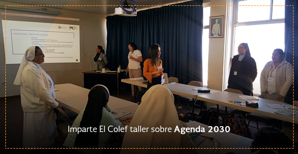 Banner Presenta El Colef la Agenda 2030 a asociaciones religiosas