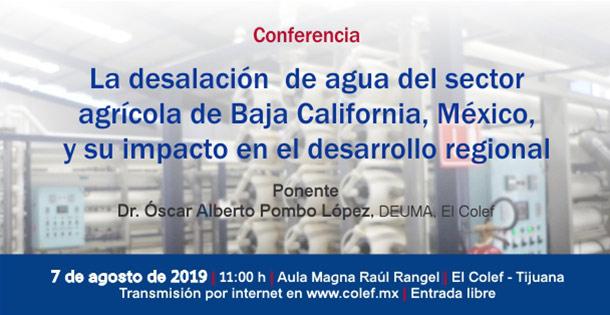 Banner La desalación de agua del sector agrícola de Baja California