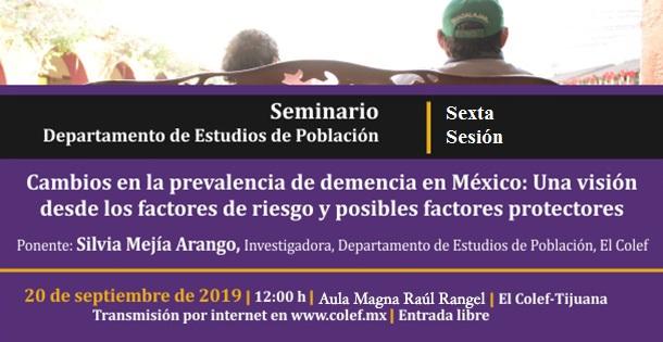 Banner Seminario del Departamento de Estudios de Población