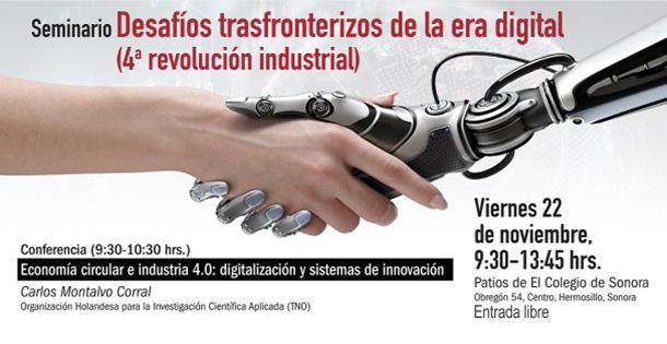 Banner Desafíos transfronterizos de la era digital (4a. revolución industrial)