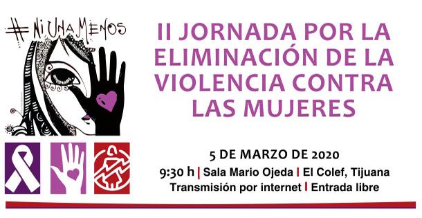 Banner II Jornada por la eliminación de la violencia