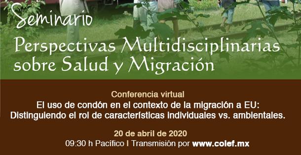 Banner Seminario virtual «Perspectivas Multidisciplinarias sobre Salud y Migración»