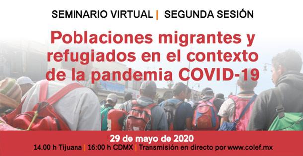 Banner Poblaciones migrantes y refugiados en el contexto de la pandemia COVID-19