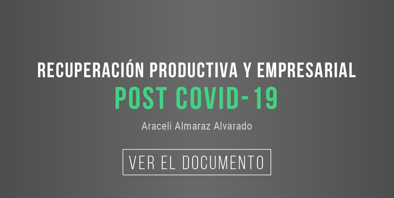 Banner Recuperación productiva y empresarial post COVID-19