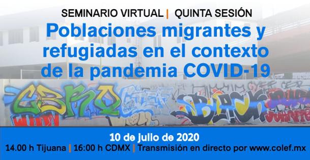 Banner Seminario poblaciones migrantes y refugiadas